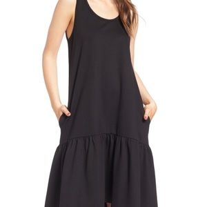 Leith Black Drop Waist Dress